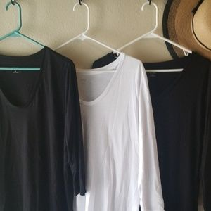 Ana 3/4 sleeve stretch cotton/rayon tops size XL